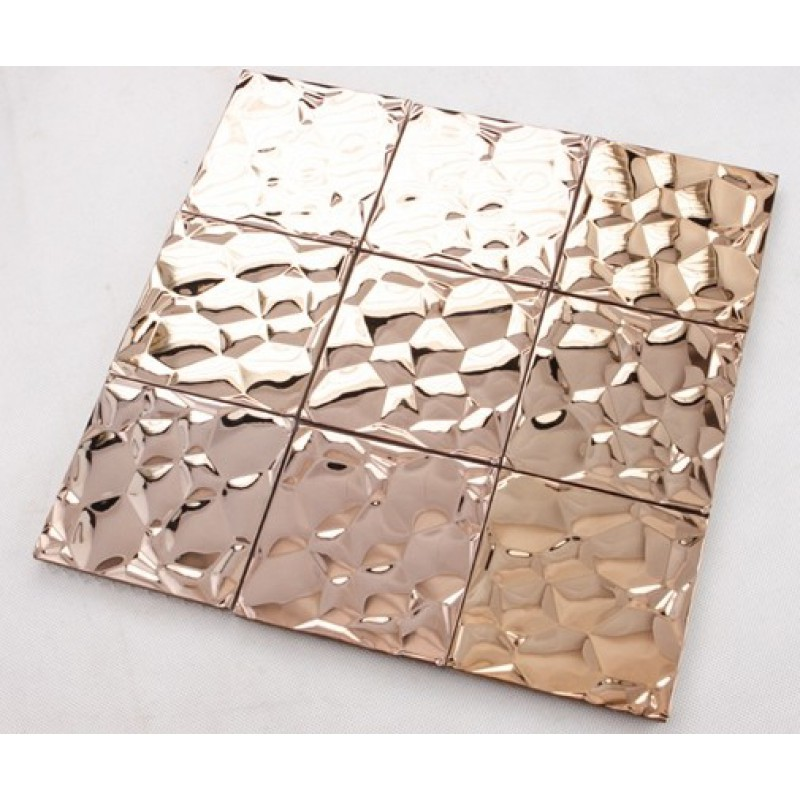 Sample Stainless Steel Metal Pattern Mosaic Tile Kitchen: Metallic Mosaic Tile Stainless Steel Tile Patterns Kitchen