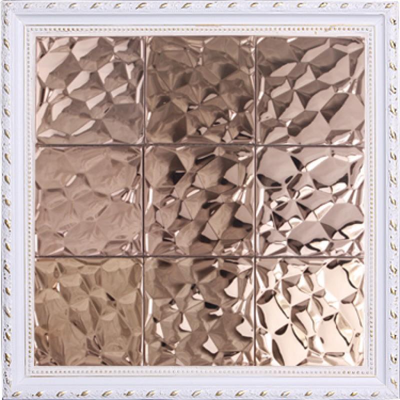 Metallic Mosaic Tile Stainless Steel Tile Patterns Kitchen Backsplash Wall Brick Tiles Metal Mirror Wall Mosaic Art