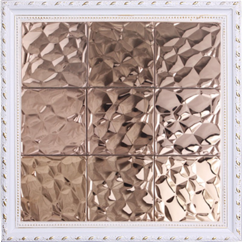 Metallic Wall Tiles >> Metallic Mosaic Tile Stainless Steel Tile patterns Kitchen