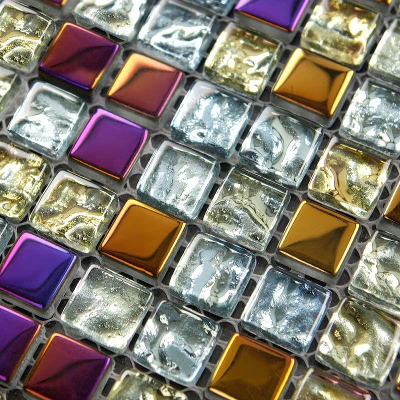 glass mosaic tiles kitchen backsplash wall stickers