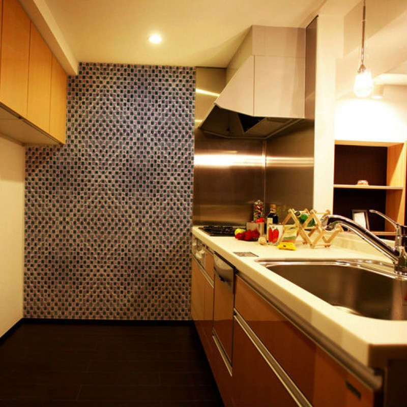 Crystal Glass Mosaic Sheet Wall Stickers Kitchen