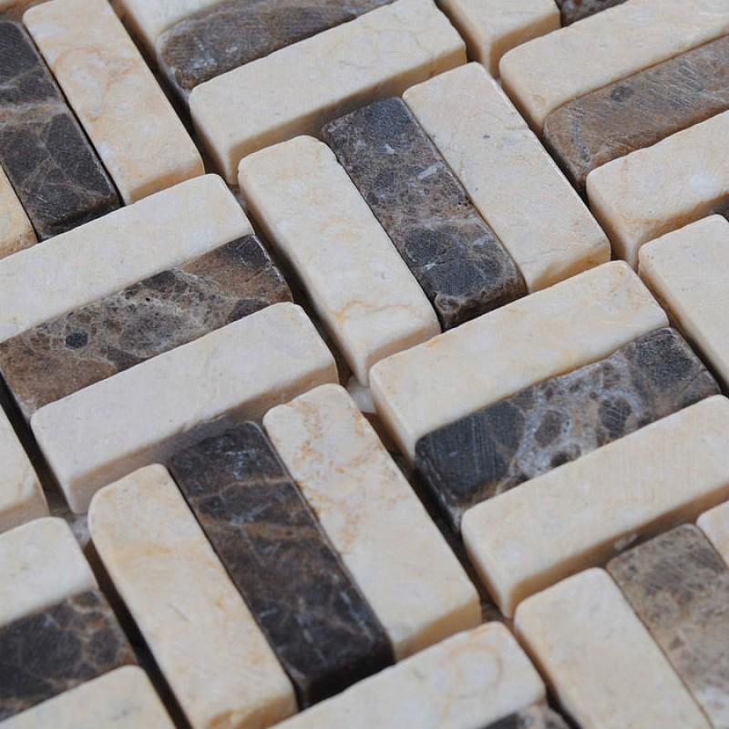 Marble Tile Backsplash Kitchen Design Brown And Cream