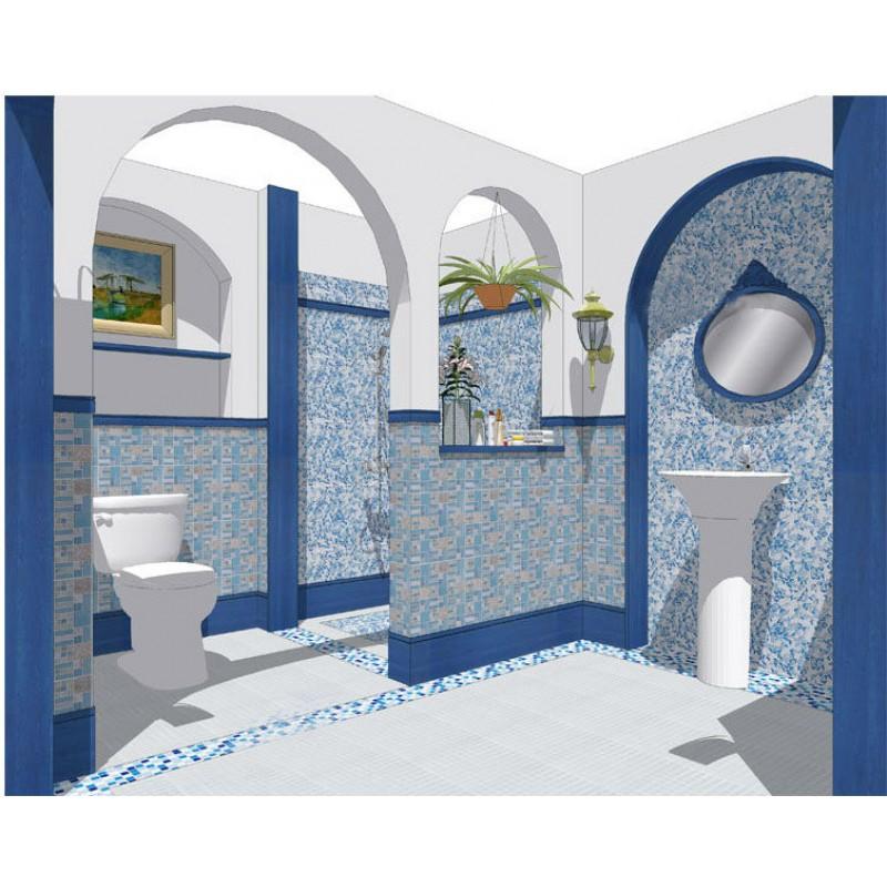 Crystal Mosaic Tile Backsplash Kitchen design colorful Glass & Stone ...
