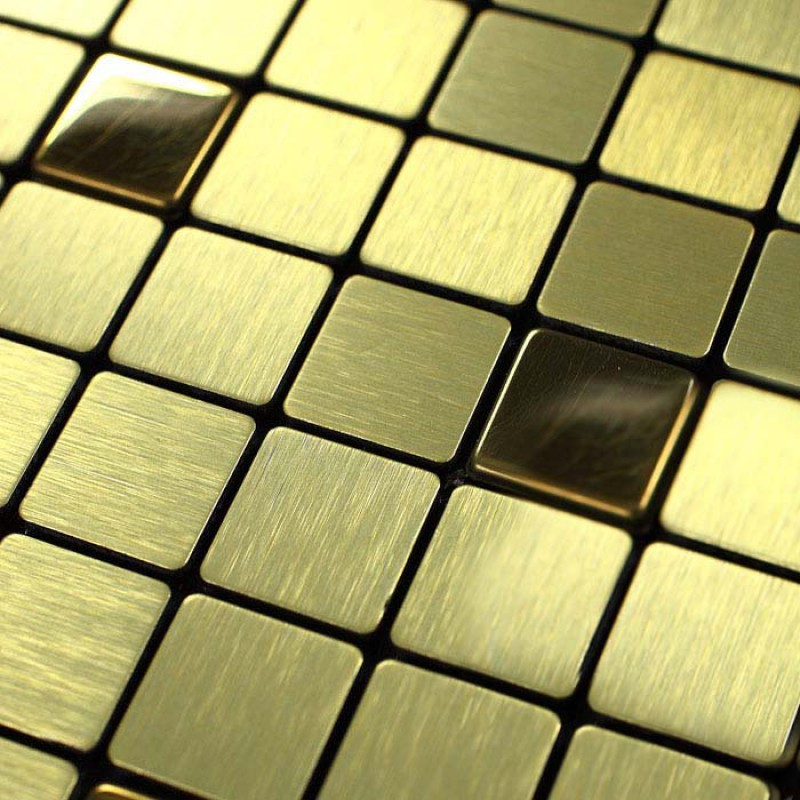 Metallic Tile sheet Glass & Aluminum blend Mosaic Tiles 9101 Tiling ...