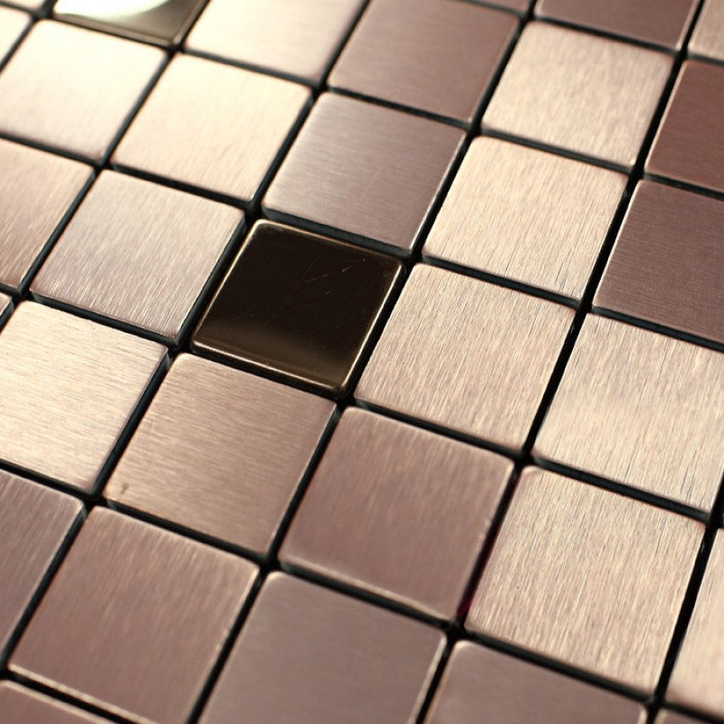 Tile Mosaic Stickers Brushed Interior Aluminum Wall Panels Metal