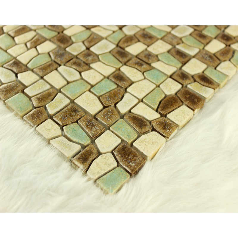 Porcelain Mosaic Tile Kitchen Backsplash Pebble Mosaic Ceramic Tiles  Fireplace Mirror Wall Stickers A  004 Bathroom ...