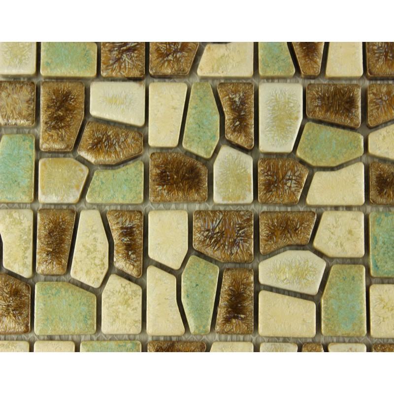 Porcelain tile mosaic tiles ceramic tile bathroom wall for Ceramic mural wall tiles