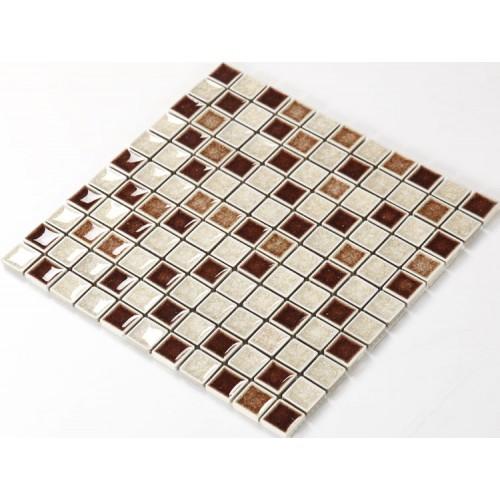 Porcelain Tile Mosaic Kitchen Backsplash Inch Crackle Crystal - 3 inch square ceramic tiles