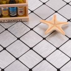 silver alucobond tile ACP brushed aluminum mosaic sheets metal tile backsplash AA02 bathroom tiles wall decor kitchen backsplashes