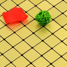 gold alucobond tile ACP brushed aluminum mosaic sheets metal tile backsplash cheap AA03 bathroom tiles wall decor kitchen backsplashes