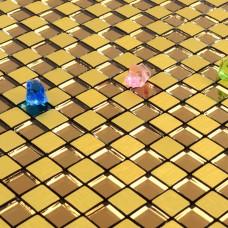 gold alucobond tile backsplash aluminum mosaic sheets ACP metal glass mirror designs AA05 bathroom tiles wall decor kitchen backsplashes