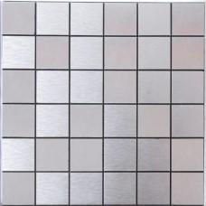 silver alucobond tile brushed aluminum mosaic brick ACP metal tile backsplash cheap AA07 bathroom tiles wall decor kitchen backsplashes