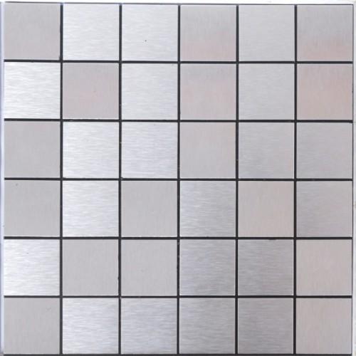 tile brushed aluminum mosaic brick acp metal tile backsplash cheap