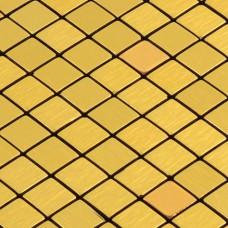 gold alucobond tile ACP brushed aluminum mosaic sheets glossy metal tile backsplash cheap AA17 bathroom tiles wall decor kitchen backsplashes
