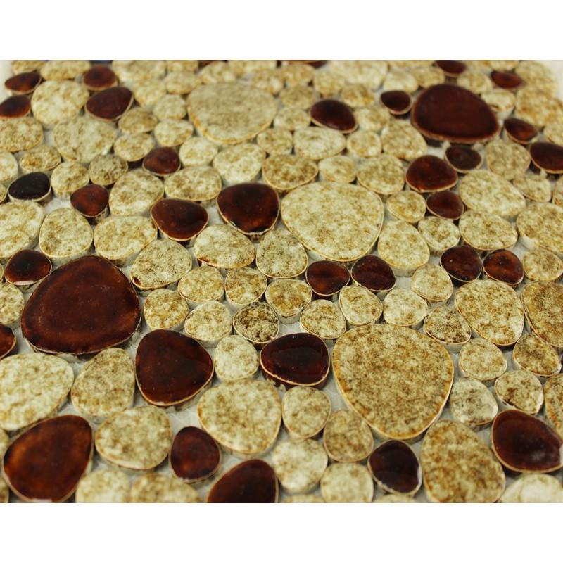 Kitchen Tiles Stickers pebble tile backsplash heart-shaped ceramic tile stickers kitchen