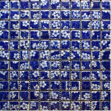 Glazed porcelain tile kitchen backsplash blue and white ceramic mosaic BWT110 bathroom flooring designs shower wall tiles