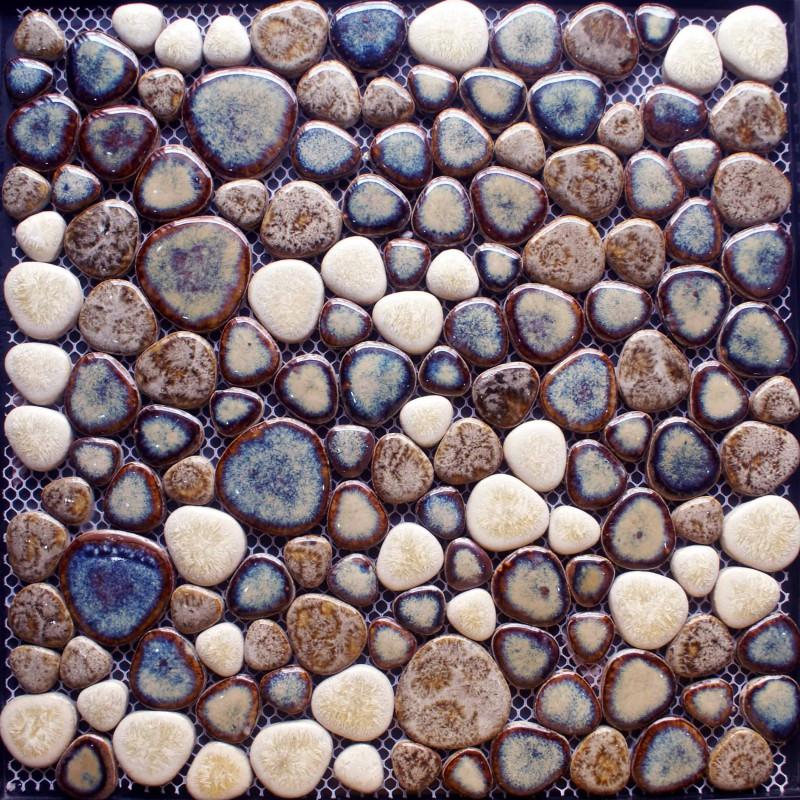 Porcelain Mosaic Tile Kitchen Backsplash Pebble Shower Ceramic Tiles Wall Stickers Adt116 Bathroom Floor