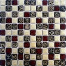 "Italian porcelain tile backsplash kitchen walls glazed ceramic mosaic tiles sheets square 1"" cheap bathroom floor designs GPT152"
