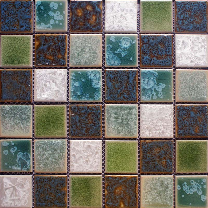 Glazed Porcelain Mosaic Tile Sheets Cheap Ceramic Tile Flooring Swimming Pool