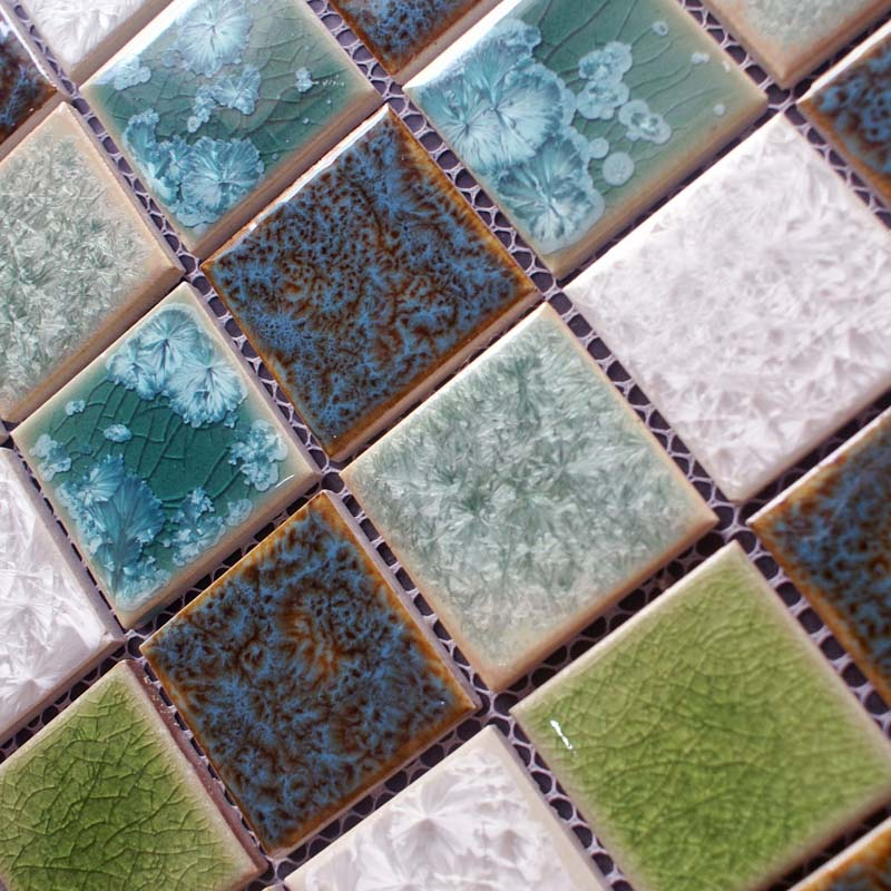 Glazed Porcelain Mosaic Tile Sheets Ceramic Flooring Swimming Pool Brick Kitchen Floor Tiles Bathrooms