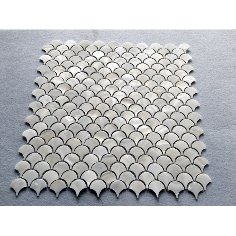 Off White Shell Tile Backsplash Mother Of Pearl Mosaic Unique Design