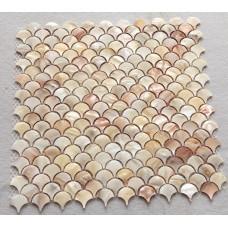natural pink shell tile backsplash mother of pearl mosaic tiles unique design fish scale bathroom showers kitchen backsplash wall tiles ST111