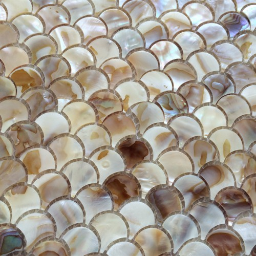 mother of pearl mosaic tiles natural shell tile backsplash unique design fish scale bathroom showers kitchen backsplash wall tiles decor ST112