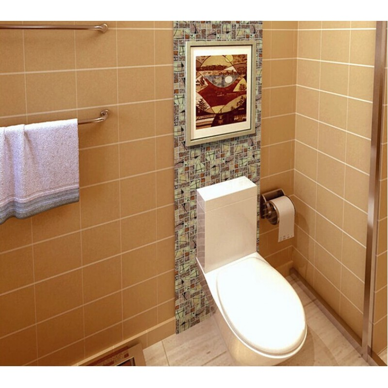 Glass Tiles In Bathroom: Glass Mosaic Tile Backsplah Bathroom Wall Tiles Crackle