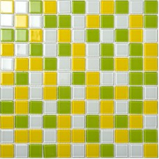 Crystal Glass Mosaic Tiles Wall Stickers Mixed Colors Kitchen Backsplash Tile Design Glossy Bathroom Floor Mirror Tiles AH257