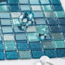 Sea glass tile backsplash ideas bathroom mosaic mirror tile sheets shower wall tiles design discount kitchen backsplash CGT127