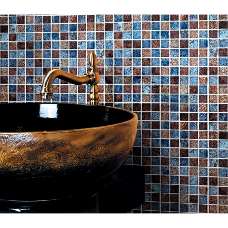 ... Glossy Glass Tile Backsplash Ideas Bathroom Mosaic Sheets Brown And  Blue Crystal Glass Wall Tiles Cheap
