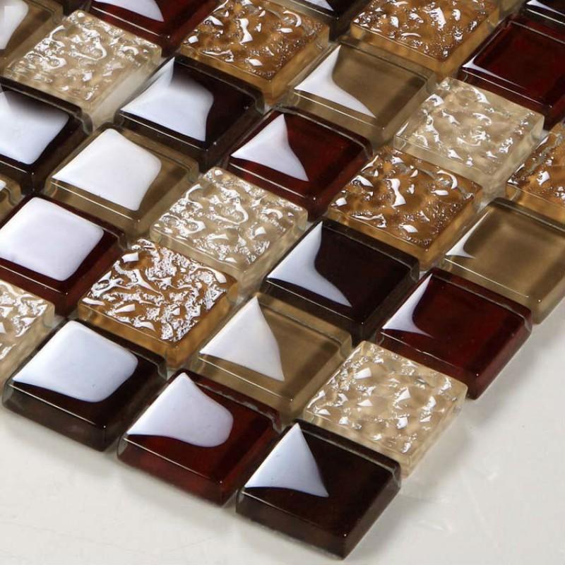 Crystal glass tiles sheet diamond mosaic art wall sticker