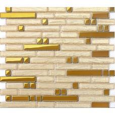Metal glass tile backsplash interlocking diamond glass & stainless steel mosaic designs B902 metallic mosaic tiles sticker