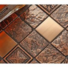 brushed stainless steel tile brick kitchen backsplash brass glass mosaic resin patterns B962 bathroom shower designs metal mosaic tiles