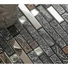 stainless steel backsplash subway glass mosaic diamond kitchen back splash resin patterns B967 bathroom shower designs metal crystal glass tiles