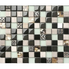 Natural stone and glass mosaic tiled showers resin conch backsplash tiles for kitchen and bathroom shower wall tile designs SGC974