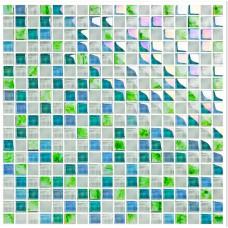 Blue crystal glass tile backsplash ideas kitchen white glass mosaic bar table designs iridescent bathroom wall tiles KLGT1503