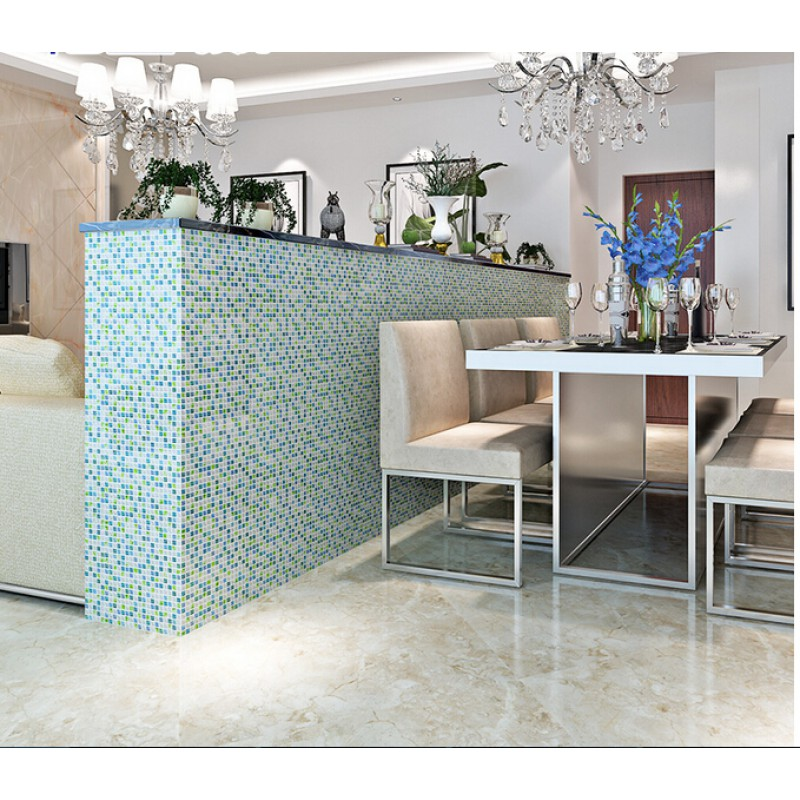 Blue Crystal Gl Tile Backsplash Ideas Kitchen White Mosaic Bar Table Designs Iridescent Bathroom Wall
