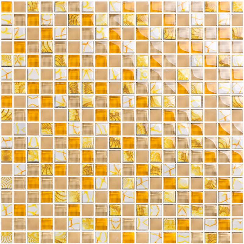 in kitchen mosaic tile designs bathroom showers yellow crystal wall