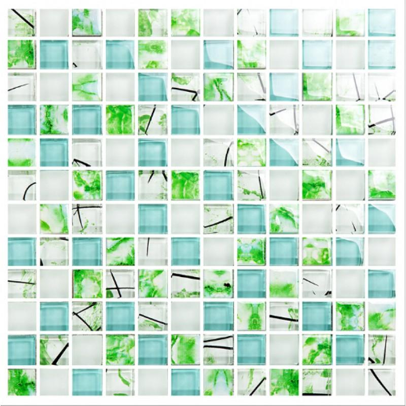 Blue Tile Backsplash Ideas Bathroom Crystal Glass Mosaic Sheets Shower Tile Wall Kitchen