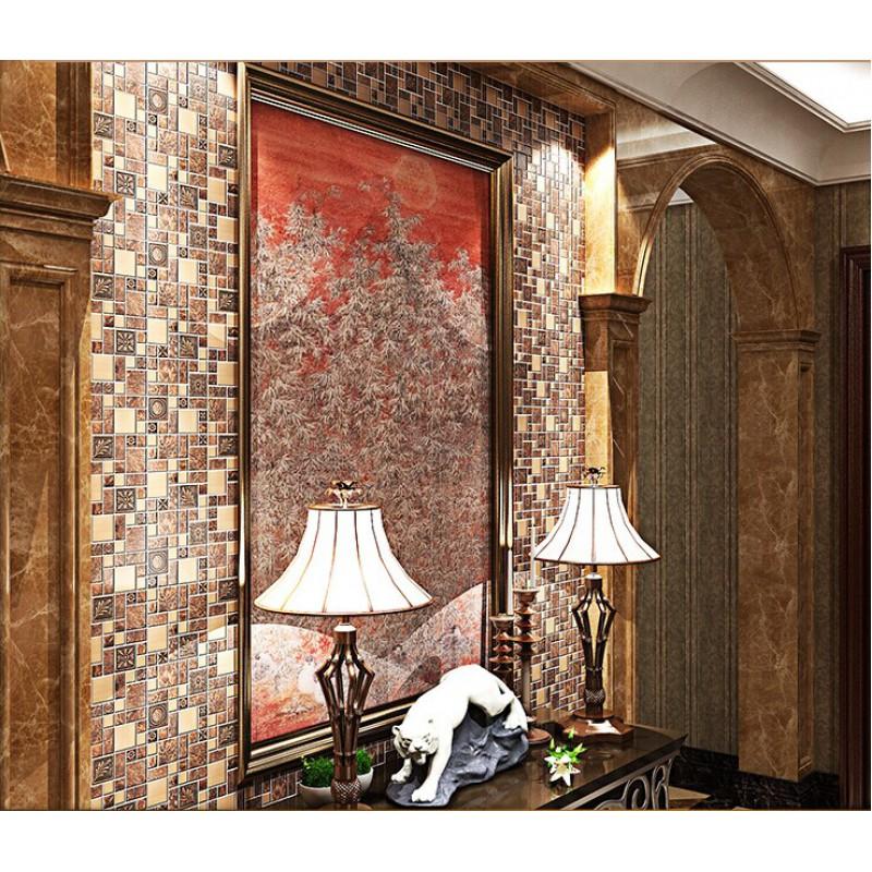 Metal Wall Tiles brushed stainless steel tiles brass resin metal mosaic tile