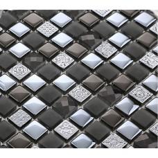 stone glass mosaic tiles black kitchen backsplash diamond marble plated crystal glass tile BH26 bathroom shower designs bedroom wall sticker