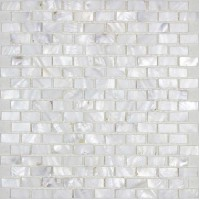 Mother of pearl tile backsplash white freshwater shell mosaic subway wall decor natural seashell tile shower MPBK03