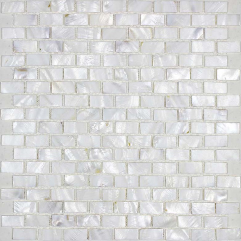 Mother Of Pearl Tile Backsplash White Freshwater Shell Mosaic Subway Wall Decor Natural Seashell Shower
