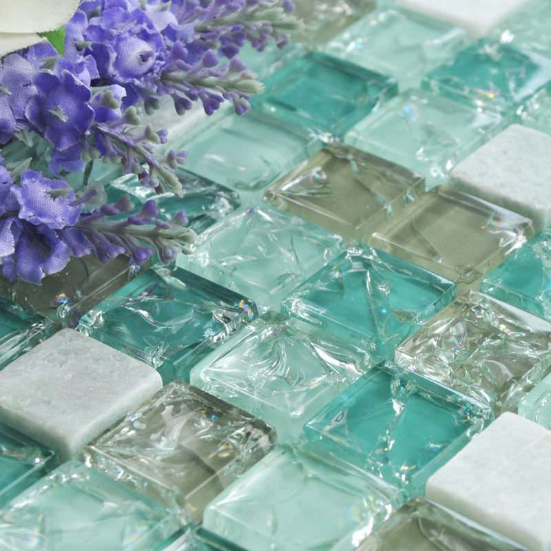 Crystal Gl Mosaic Tile Sheet Wall Stickers Kitchen Backsplash Floor Design Bathroom Shower Pool Le Bl2306