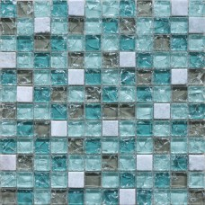 Crystal Glass Mosaic Tile Sheet Wall Stickers Kitchen Backsplash Tile Floor Stickers Design Bathroom Shower Pool Crackle BL2306
