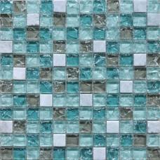Crystal Glass Mosaic Tile Sheet Wall Stickers Kitchen Backsplash Tile Floor Stickers Design Bathroom Shower Pool Crackle BL2306