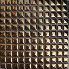 Porcelain tile kitchen backsplash ideas bathroom plating gold ceramic mosaic shower wall tiles design mirror tile sheets GPT2401G