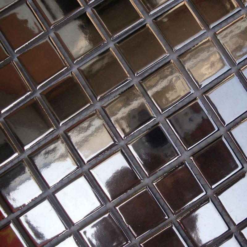 Porcelain floor tile sheets ceramic mosaic mirror tile - Mirror mosaic tile backsplash ...
