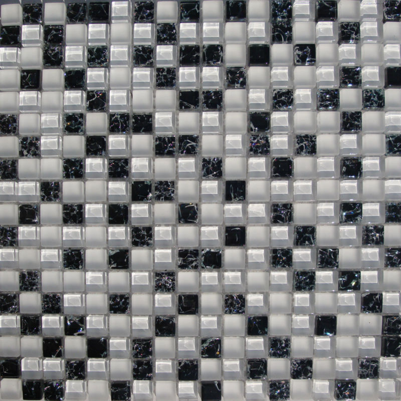 Mosaic tiles backsplash kitchen ideas ice cracked crystal Mosaic kitchen wall tiles ideas